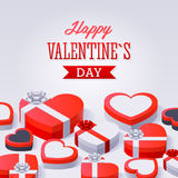 Valentines Day Gift Boxes Stock Photography