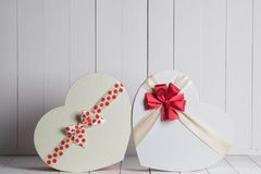 Valentines Day gift boxes Royalty Free Stock Images