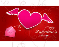 Valentines day gift card Royalty Free Stock Images