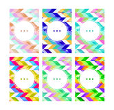 Valentines day gift cards. Geometric colorful patterns Stock Photography