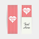 Valentines Day Gift Cards vector illustration