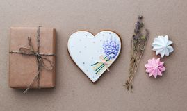 Valentines day gift concept Stock Photos