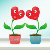 Valentines day gift. Heart-shaped flowers in love. Royalty Free Stock Images