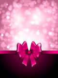 Valentines Day gift ribbon background Royalty Free Stock Photography
