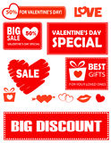 Valentines day gift tags Royalty Free Stock Images