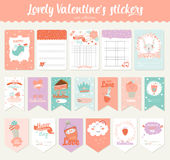 Valentines day gift tags, stickers and labels Royalty Free Stock Photo