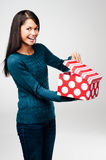 Valentines day gift woman Royalty Free Stock Images