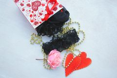 Valentines Day gift for a woman Royalty Free Stock Photo