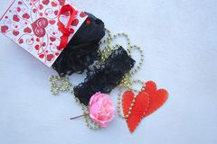 Valentines Day gift for a woman Royalty Free Stock Images