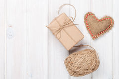 Valentines day gift wrapping Royalty Free Stock Images