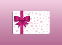 Valentines day giftcard Royalty Free Stock Photography