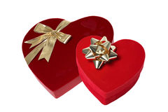 Valentines Day Gifts. (Isolated on white background Royalty Free Stock Images