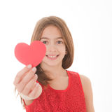 Valentines day girl. Focus on face Royalty Free Stock Photography