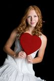 Valentines Day Girl Royalty Free Stock Photography