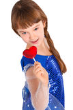 Valentines day girl Royalty Free Stock Images