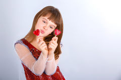 Valentines day girl Royalty Free Stock Photos