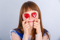 Valentines day girl Stock Images