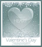 Valentines Day glass transparent heart. Royalty Free Stock Images