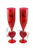 Valentines day glasses Stock Photography