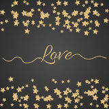 Valentines Day glitter shimmer card background Royalty Free Stock Photos