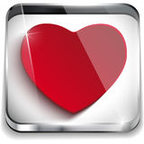 Valentines Day Glossy Application Button Heart Royalty Free Stock Images