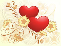 Valentines Day gold design. Stock Image