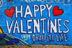 Valentines Day Graffiti, London UK Stock Photos