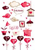Valentines day graphic elements Royalty Free Stock Photos