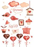 Valentines day graphic elements. Illustration Royalty Free Stock Photography