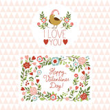 Valentines day graphic elements Stock Photo