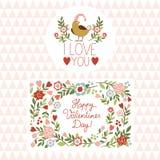 Valentines day graphic elements Stock Photo