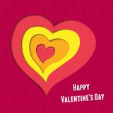 Valentines Day greating card with layered heart Stock Photo