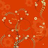 Valentines Day Greeting card. Swirl Flowers for Valentines Day Greeting card Vector Illustration
