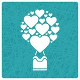 Valentines Day greeting card Royalty Free Stock Images