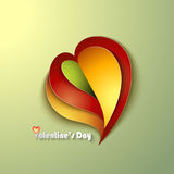 Valentines Day Greeting Card Royalty Free Stock Photos
