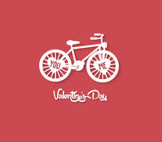 valentines day greeting card with bicycle Royalty Free Stock Images