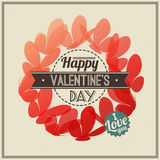 Valentines Day greeting card with butterflies Royalty Free Stock Photography