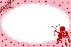 Valentines Day Greeting Card,Cupid -EPS10 Royalty Free Stock Photography