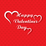 Valentines day greeting card design Stock Photography