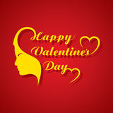 Valentines day greeting card design Stock Images