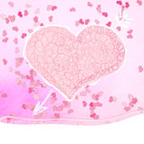 Valentines day Greeting card. + EPS8. Valentines day Greeting card, heart with arrow. + EPS8 vector file Royalty Free Illustration
