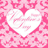 Valentines day greeting card with floral elements Royalty Free Stock Images