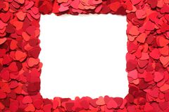 Valentines Day greeting card frame royalty free stock image