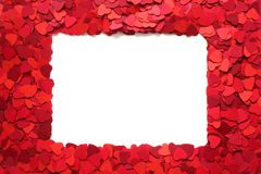 Valentines Day greeting card frame stock photography