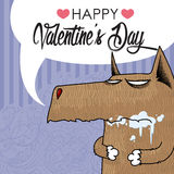 Valentines day greeting card. Stock Photos