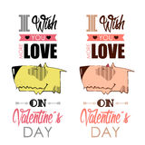 Valentines day greeting card. Royalty Free Stock Photography