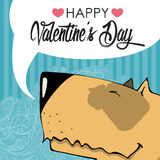 Valentines day greeting card. Stock Photo