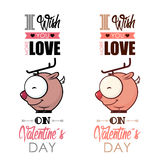 Valentines day greeting card. Royalty Free Stock Photo