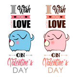 Valentines day greeting card. Stock Photography