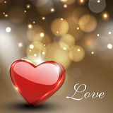 Valentines Day greeting card, gift card or background with gloss Stock Image